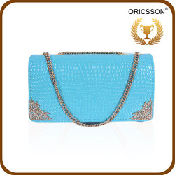 2015 Vintage Style High Quality Leather Women Clutch Bag
