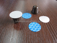 Plastic coffee capsules and Aluminum foils sealing lids for coffee capsules cups