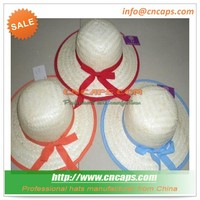 Girl kids straw hat china factory supplier