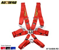 AUTOFAB - 1 Piece 2015 New 6-Point Racing Seat Belt / with 5 pcs FIA Approved Expiry 2020 Default color is red AF-SAB06