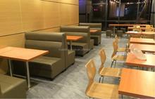 Restaurant furniture/simple design leather cover restaurant booth sofa