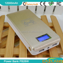 2015 PB26W Hot sale dual usb 10000mah backup battery/power bank for iphon
