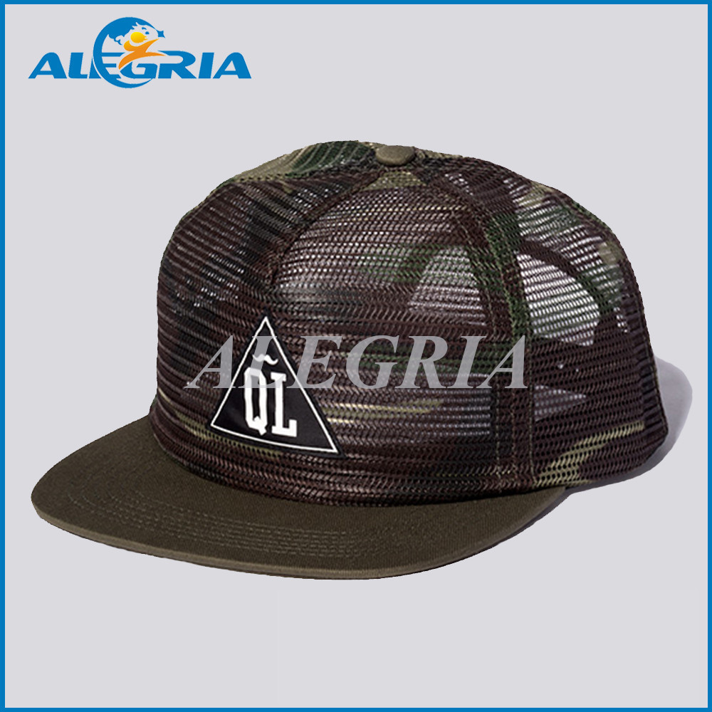 custom flat brim all 6 panels mesh baseball caps buy