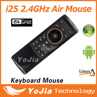 Newest i25 K25 Fly Air Mouse 2.4GHz Wireless Keyboard IR Remote Motion sensing game Combo FM5 Remote Controller