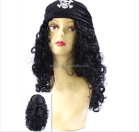 COS the pirate wigs captain hook wig pirates of the Caribbean pirate jack wig hat