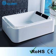 2015 Exalted Acrylic White Massage Bathtub 2 People Multifunction Indoor Home Japanese Sex Bathtub With Shower