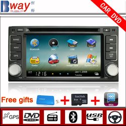 Bway In Dash 2 din Car DVD for Toyota Universal corolla EX Vios Hilux Fortuner CAR DVD with GPS Navigation Bluetooth Radio