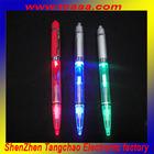 2014 make led piscando caneta esferográfica com luz