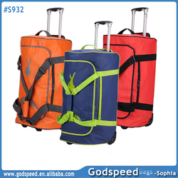 2014 Hot Sale travel rolling duffel nylon trolley bag waterproof luggage bag