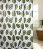 Leaf printed shower curtain