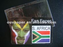 NEW! non-toxic face card for Brazil World Cup