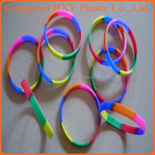 HXY custom Camouflage silicone wristbands, colorful christian silicone bracelet for gifts