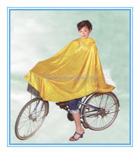 Polyester waterproof bicycle rain protection poncho