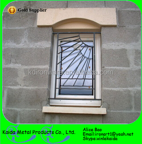 Ornamental french modern simple steel window grill design for Modern zen window grills design