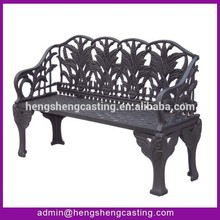 Simple style Cast Iron Wooden bench for garden