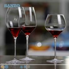 Saiyuki SANZO genjyo hechos a mano clear copa de vino con pintura de plata en la parte superior