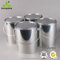 wholesale 1 gallon metal can with lid and hanle for chemical or paint use