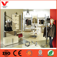 Clothing store boutique rack/wholesale shoe store shop fitting display rack shelves