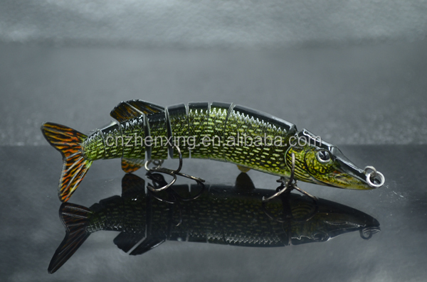Attractive pike 5inch artificial lures saltwater fishing for Fishing bait launcher