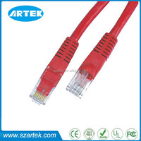 Factory Price Red Snagless Lan Kabel UTP CAT5e RJ45 patch cable