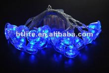 20 LED bulb,2m length LED Battery Light of blue Color with caps