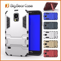Hybrid rugged rubber tpu pc kickstand slim armor case cover for samsung galaxy s5 G900