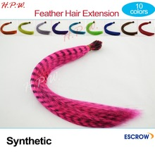 Wholesale Fashion Multi-color Feathers For Hair Extension 20inches 50cm Synthetic I-tip micro ring hair extension 10 colors