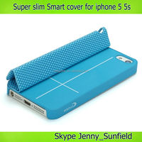 Cell phone case supler slim magnet smart leather case for iphone 5 5s , for apple iphone 5s case smart , for iphone case slim