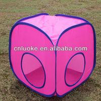 Pink pet tent