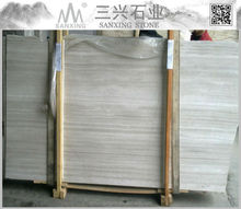 Chinese polished White wooden marble price