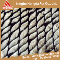 wholesale promotional product black and white shaggy fur fabric for coat