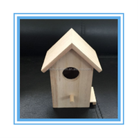 New cheap unfinished wooden bird house wholesale