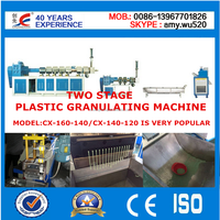 FACTORY PRICE WASTE PP/PE FILM PLASTIC RECYCLING PELLETIZING MACHINE