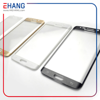 2015 Wholesale color 3d curved tempered glass screen protector for SAMSUNG s6 edge