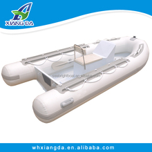 8' to 12' aluminum RIB inflatable boats/PVC/ Hypalon rigid hull inflatable boat reviews