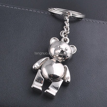 Newly style alloy bear key ring metal bear keychain promotional GX-012