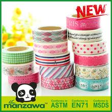 Manzawa colorful washi masking tape for art and craft decoration