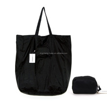 Foldable Bag,Shopping Bag Nylon in Black
