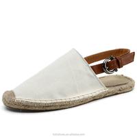 Unisex canvas shoes women's flat casual sandals buckle strap sandals for Men