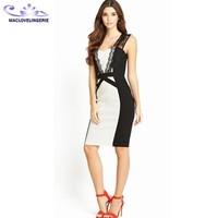 ML18110 Wholesale below the knee dresses Lace Back Sleeveless Clothing Women