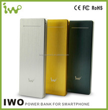 Full Metal Jacket! IWO Original 9000mAh Power Bank, Fastest 2A Input Charging, Aluminium Housing With Wire Drawing Effect.
