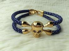 2014 Fashion Design Men Luxury Gift,Handmake Stingray Mens Bracelet,Gold Stingray Bracelet Design Manufacturer