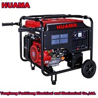 HUAMA 5kw Loncin Model gasoline generator with wheel and handles
