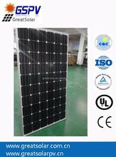 Best price per watt good quality/high efficiency mono 250W solar panel/module with TUV IEC CE UL certificate