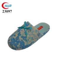Fashion plain bow wholesale winter indoor slippers lady