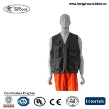 Mens cotton canvas work vest,Sleeveless work vest,Safety vest with pockets