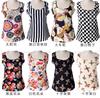 Free Shipping 2015 summer women blouses Chiffon Shirts women clothing Casual Shirts o-neck print Sleeveless women 006