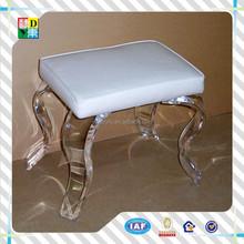 acrylic vanity chairs for bathroom/clear shower chair/fancy acrylic plastic chair