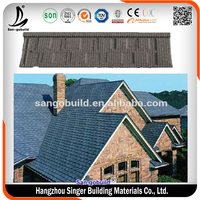 Building Colored Sand Coated Bent Type Al-zn Steel Roofing Sheets