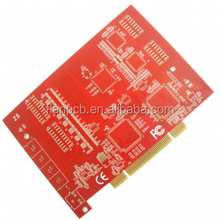 4 layer Printed circuit board with Red solder mask